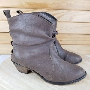 Steve Madden Distressed Leather Slouch Ankle Boots
